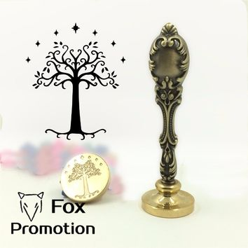 New Hot Lord of the rings wax seal stamp with metal handle,Scrapbooking DIY Ancient Seal Retro Stamp Vintage Gift rohan tree