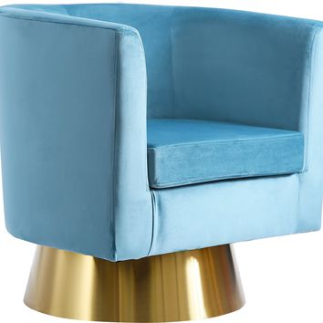 Bellagio Aqua Velvet Accent Chair