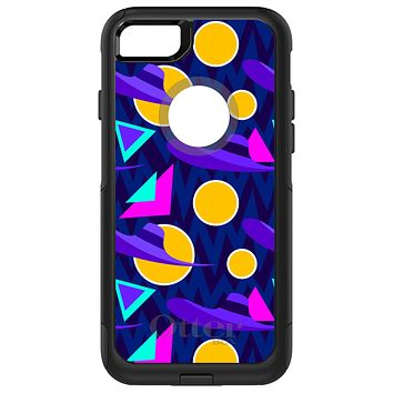 DistinctInk™ OtterBox Commuter Series Case for Apple iPhone or Samsung Galaxy - Pink Purple Yellow 90s Pattern