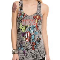 Marvel Group Comic Girls Tank Top