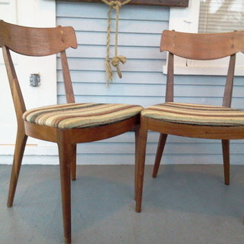 SALE, Two, Vintage, Wood, Kitchen Chair, Dining Chair, Wood Chair, Upholstered Chair, Mid Century Modern, Danish, Teak