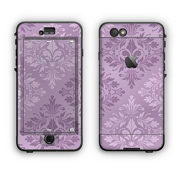 The Light and Dark Purple Floral Delicate Design Apple iPhone 6 Plus LifeProof Nuud Case Skin Set