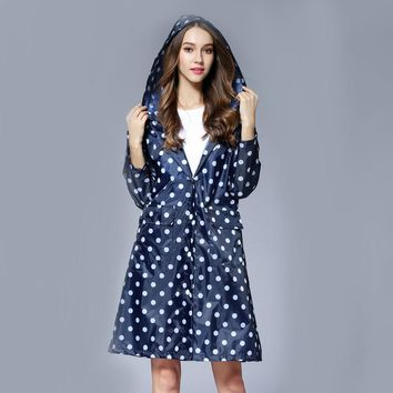 Girl Lady Hooded Raincoat Outdoor Travel Waterproof Riding Cloth Rain coat for Women Poncho Long Rainwear raincoat jacket
