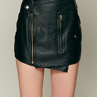 Free People Biker Wrap Mini Skirt