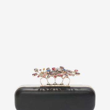 Nappa Clutch With Floral Knuckle Detail | Alexander McQueen