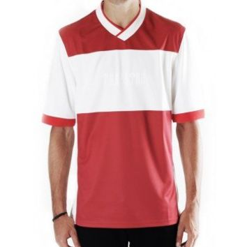 Trapstar football shirt (red/white) - Tees | Trapstar