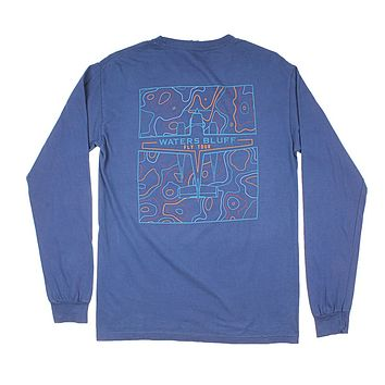 Fly Tour Long Sleeve Tee in Navy by Waters Bluff
