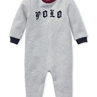 Polo Ralph Lauren Baby Boys Logo Graphic Coverall Kids - All Baby - Macy's