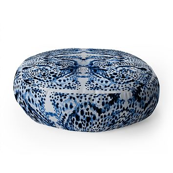 Elisabeth Fredriksson Symmetric Dream Blue Floor Pillow Round