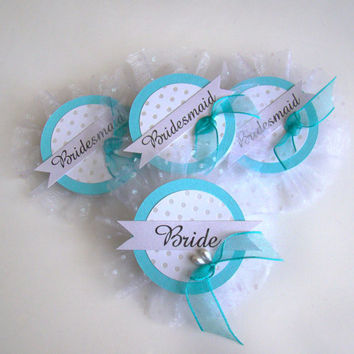 Bride Badge, Bride Pin, Bride Corsage, Bachelorette Party Pins, Bridal Shower, Hen Party Pins, Wedding Party Badges, Aqua Wedding