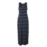 Casual Stripe Sleeveless Striped Cotton Long Maxi Summer Beach Party Tank Dress