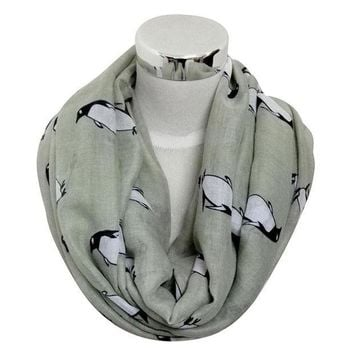 MDIG9GW RE Free Shipping 2016 New Women Cute Fashion Winter Moose Deer Animal Print Infinity Scarfs Snood For Ladies Christmas Gifts