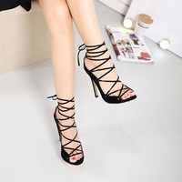 Dream Lover Lace Up Heels