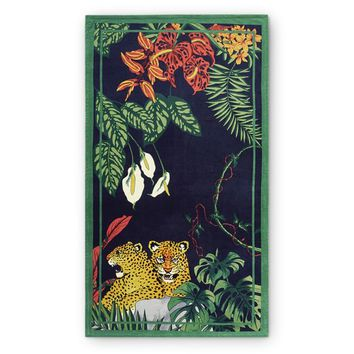 Printed Jungle Beach Towel, Cheetah