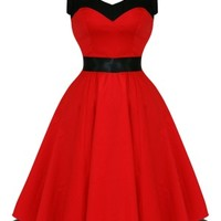 Hearts & Roses Red Rock n Roll Dancing Dress