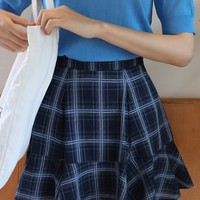 Plaid Vell Skirt