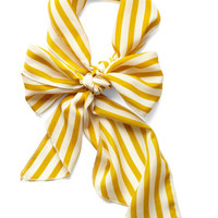 ModCloth Nautical Bow to Stern Scarf in Mustard Stripes