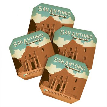 Anderson Design Group San Antonio Coaster Set