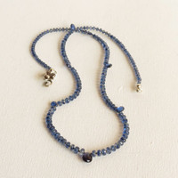 Rich Blue Kyanite Necklace with Sterling Silver, Statteam