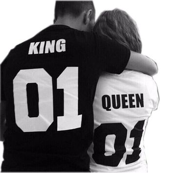 KING QUEEN Couple Matching T-shirts