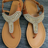 Crystal Embellished Thong Sandal