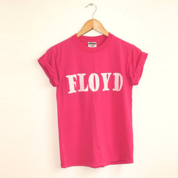 Floyd Shirt in Pink  Vintage Rocker Color Band by twostringjane