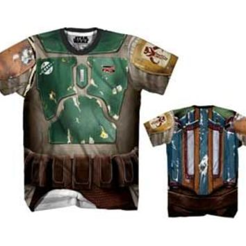 Star Wars Boba Fett Performance Athletic Sublimated Costume T-Shirt