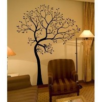 Customize your tree colors! BIG Tree with 30 Birds Wall Decal Digiflare Graphics