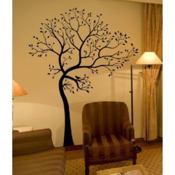 BIG Tree with Bird Wall Decal Deco Art Sticker Mural - This Decal is Created By Digiflare Graphics, Original Product with Quality 100% Guaranteed!!!