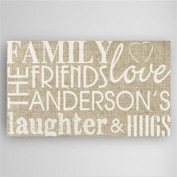 Family & Friends Canvas Sign Free Personalization