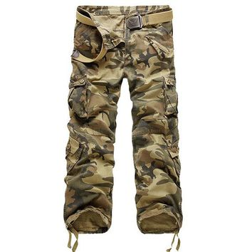 Camouflage Casual Cotton Cargo Pants