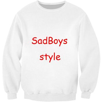PLstar Cosmos Sad Boys Sweatshirt favorite green tea Crazy Sweats Women Men Japanese characters Jumper Pullovers plus size S-5XL
