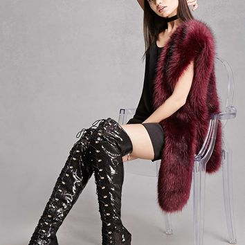 Sequined Over-the-Knee Boots