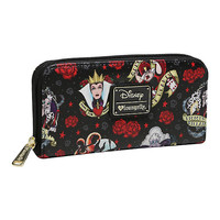 Loungefly Disney Villains Tattoo Print Zipper Wallet