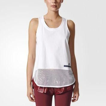 adidas Essentials Mesh Tank Top - White | adidas US