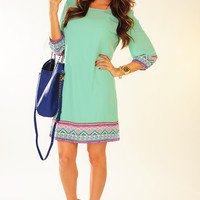 Almost Paradise Dress: Mint