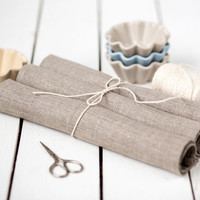 Linen placemats set of 4 - Rustic linen table placemats - Rough linen country style placemats