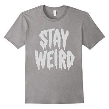 VONEG4S Stay Weird' Creepy Cute Pastel Goth Graphic T-Shirt 100% Cotton T-Shirts for Man Top Tee Men T Shirt Free Shipping Plus Size