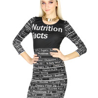 NUTRITION FACTS DRESS