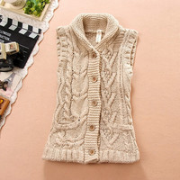 Sweater Sleeveless Jacket [9344404356]