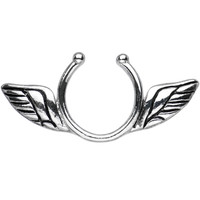 Antique Angel Wings Clip On Nipple Ring | Body Candy Body Jewelry