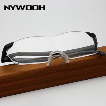 NYWOOH 1.6 Times Big Vision Magnifying Glasses Women Reading Eyeglasses Men Magnifier Eyewear Magnification Lens Presbyopia +250