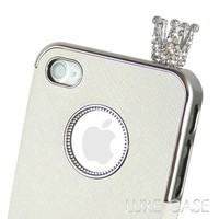 The Royal Crown Rhinestone Bling iPhone Charm in Silver | Rhinestone iPhone Accessories