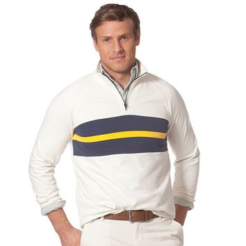 Chaps Raglan Quarter-Zip Milstead Sweater - Men, Size: