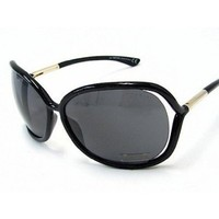 Amazon.com: Tom Ford Raquel FT0076 Sunglasses - 0B5 Shiny Black (Dark Gray Lens) - 63mm: Shoes