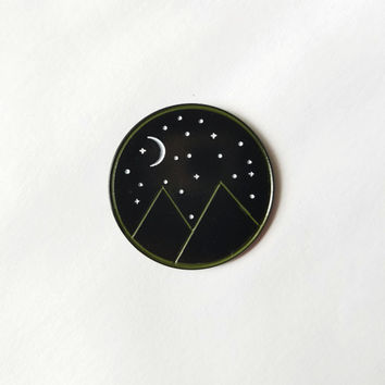 My Mountains enamel pin