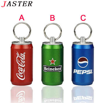 JASTER coke bottles Pen Drive metal bottle of Pepsi pendrive 8 gb 16 gb 32 gb 64 gb usb flash drive memory stick u disk gift