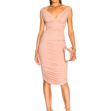 Norma Kamali Tara Dress in Rose | FWRD