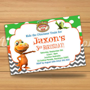 Dinosaur Train Design Invitation - Digital File