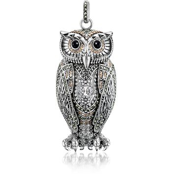 Thomas Sabo Rebel Icon Sterling Silver Owl Pendant w/Cubic Zirconia